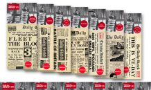 World War Two Newspapers x 7 Replica Copies